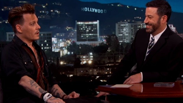 Article image for Johnny Depp takes dig at Australia on Jimmy Kimmel show