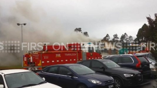 Article image for Fire has taken hold of a building at Latrobe Regional Hospital, Traralgon