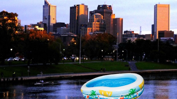 Article image for Plan to run floating swimming pool in Melbourne's Yarra River