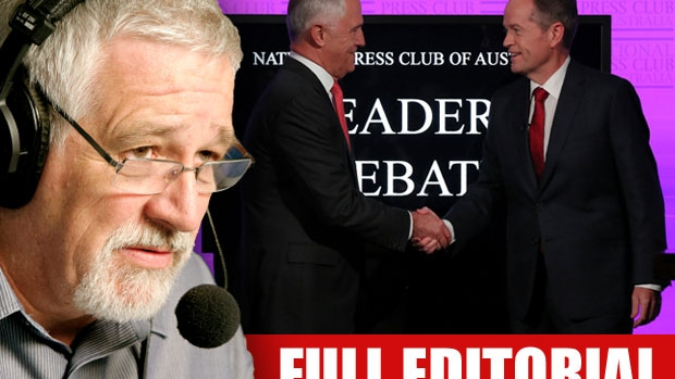 Article image for Neil Mitchell slams 'pointless' debate between Malcolm Turnbull and Bill Shorten