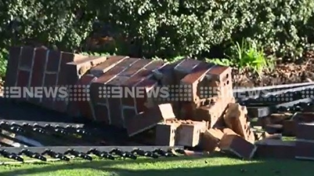 Article image for A man has died after a wall collapsed at Belmont