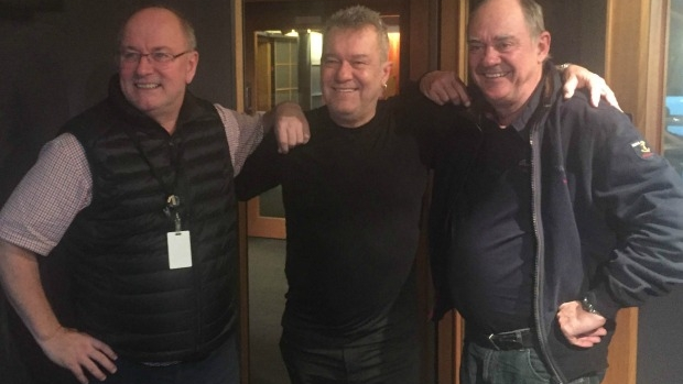 Article image for WATCH: Jimmy Barnes joins Ross and John in studio on 3AW Breakfast
