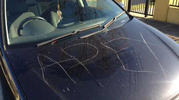 Article image for 'APEX' scratched into cars in disturbing vandal attack