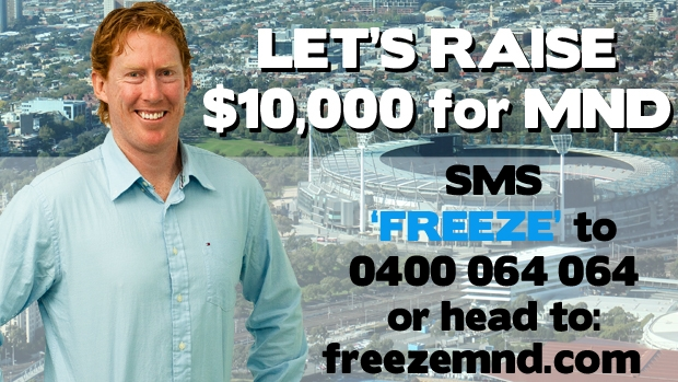 Article image for Lingy has been nominated to take the plunge into the freezing water at the MCG this weekend for MND