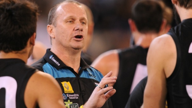 Article image for Ken Hinkley says Port Adelaide 'looking forward' to playing Bulldogs outdoors