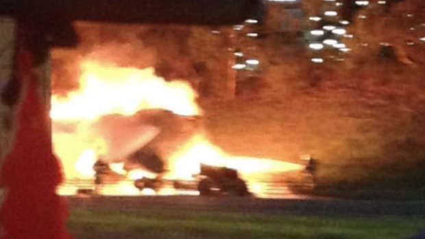 Article image for Truck fire closes Monash Freeway inbound at Springvale Road