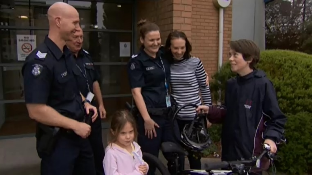 Article image for Kind-hearted police replace boy's stolen bike