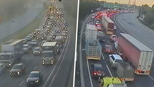 Article image for Monash Freeway closed in both directions on Tuesday, sparking traffic chaos