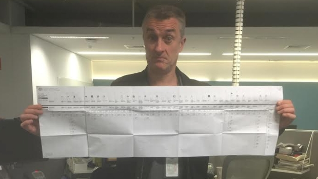 Article image for Senate ballot paper is almost a metre long, Tom Elliott says there is too much choice
