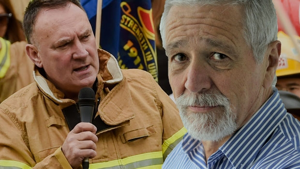 Article image for Neil Mitchell and Peter Marshall clash on 3AW over firefighter dispute