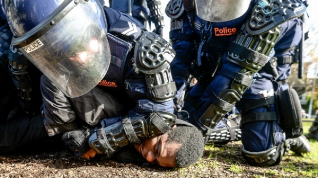 Article image for Police warn there could be more arrests over ugly Melbourne protest