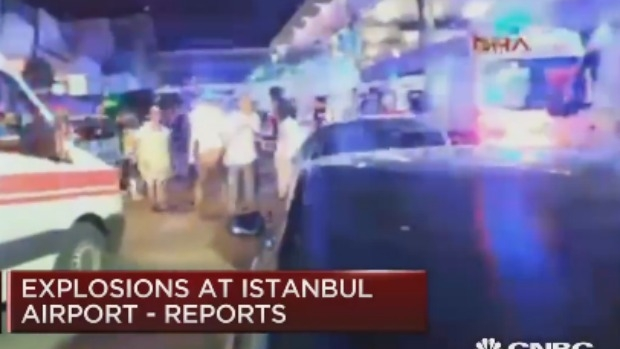 Article image for Two explosions rock Ataturk Airport, leaving at least 41 dead in Turkey