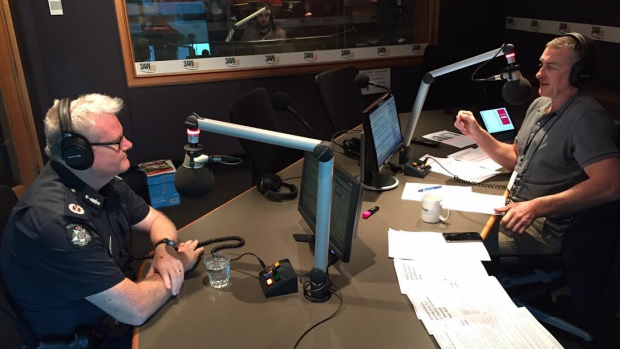 Article image for Assistant Commissioner Stephen Leane in studio with Tom Elliott discussing youth crime