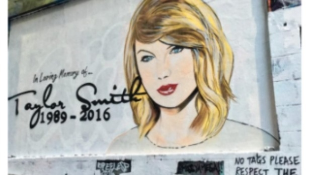 Article image for Street artist unhappy mural of Taylor Swift in Melbourne has been sprayed over