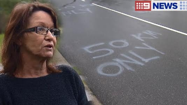 Article image for Ferntree Gully woman paints speed limit on her street to deter speeding drivers