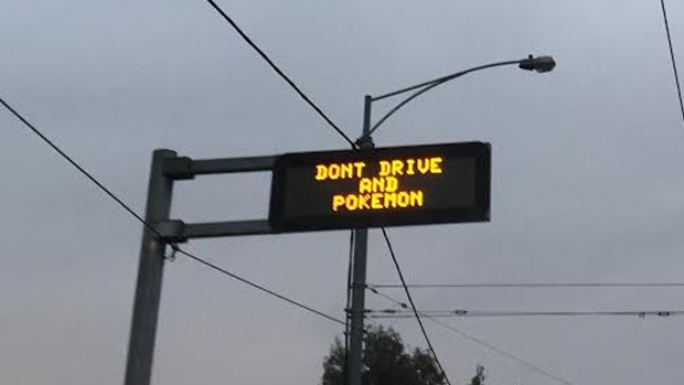 Article image for Vicroads has set up signs across Melbourne telling motorists not to Pokemon and drive