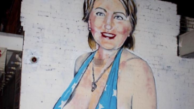 Article image for Melbourne street artist 'Lush' has painted another controversial piece of art