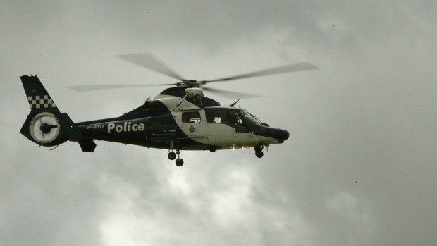 Article image for Crooks on foot hug, give themselves up after being followed by police airwing