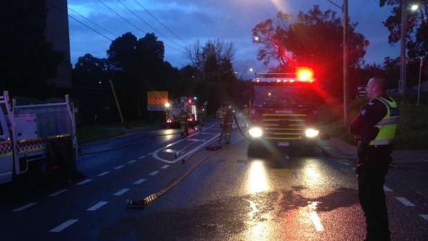 Article image for Suspicious fire at Alphington paper mill forces closure of Chandler Highway