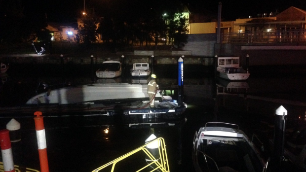 Article image for Two boats destroyed in suspected arson attack at Mordialloc