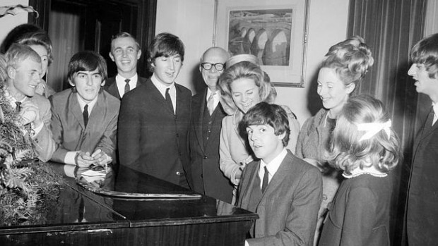 Article image for Ross plays the piano once played by Paul McCartney at Melbourne's Town Hall.