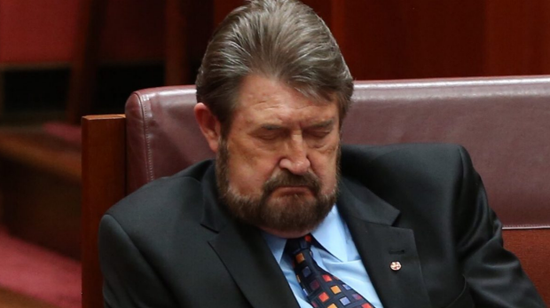 Article image for Derryn Hinch admits to Neil Mitchell he dozed off during the opening of Parliament on Tuesday
