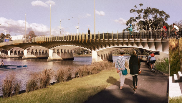 Article image for Heavy delays around Swan St due to bridge upgrades