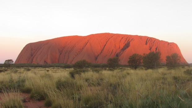 Article image for Three men spend more than 10 hours stuck on Uluru