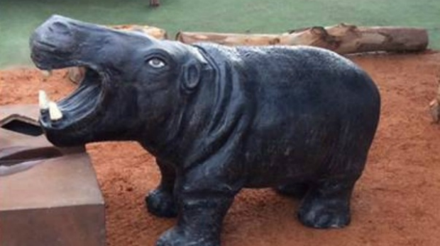 Article image for RUMOUR CONFIRMED: 'Hip Hop' the hippo statue stolen from childcare centre