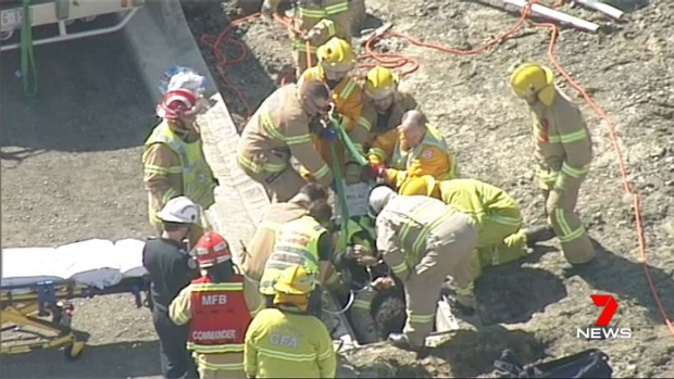 Article image for Man rescued after falling into a pit at Mernda