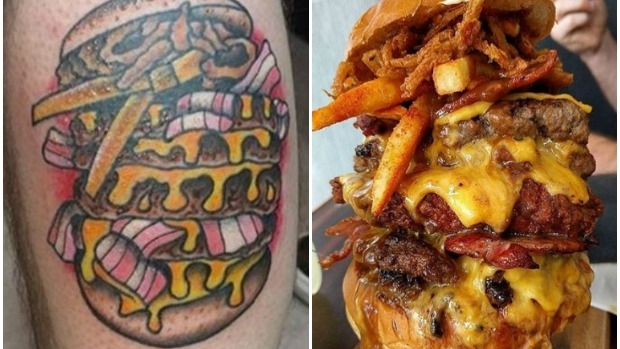 Article image for Cafe 51's campaign tattoos for burgers #freeburgers4life
