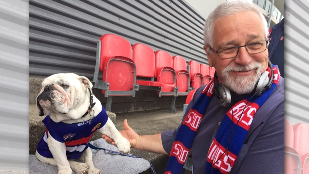 Article image for Neil Mitchell broadcasts from Western Bulldogs' territory ahead of the AFL Grand Final