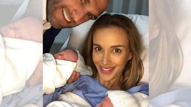 Article image for Bec and Chris Judd welcome twin boys, Darcy and Tom