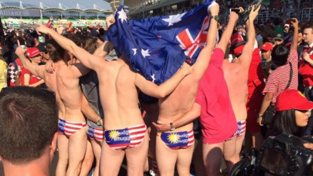 Article image for Nine Australians arrested in Malaysia for stripping off at the Grand Prix