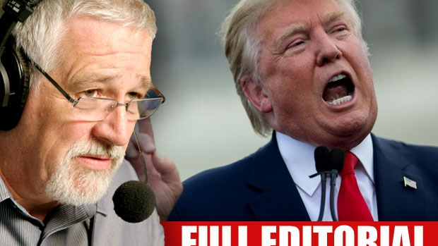 Article image for Neil Mitchell says Donald Trump looks 'finished' as presidential candidate, fires back at Pauline Hanson comment