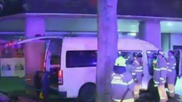 Article image for Bus carrying special needs teenagers hit by tram in CBD