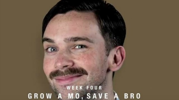 Article image for Mo's taking over the world: Movember co-founder Adam Garone with Ross and John