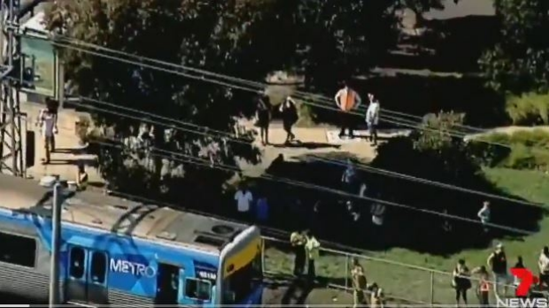 Article image for Truck collides with train in Coburg