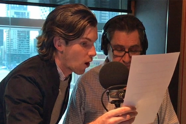 Article image for Video: Tech issues force 3AW News team to get creative