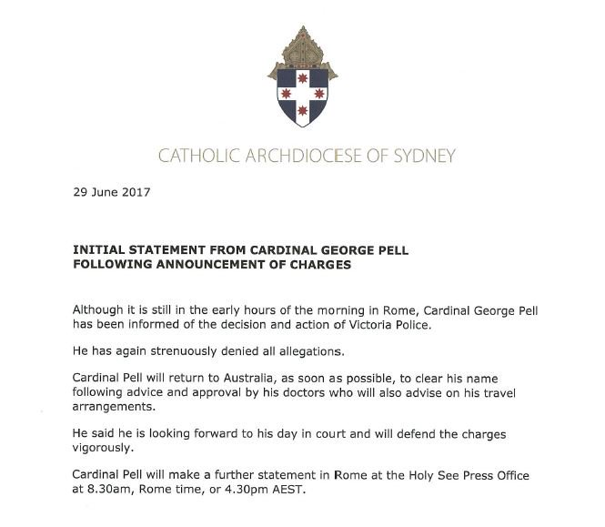 Neil Mitchell's reaction — George Pell charged