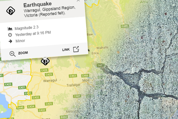 Article image for 2.3 magnitude earthquake rocks Gippsland