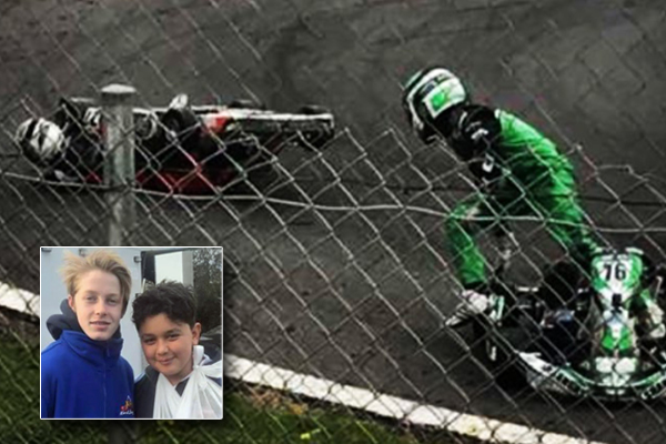 Article image for Feel-good story of the day: Go-kart champion gives up on trophies for little mate
