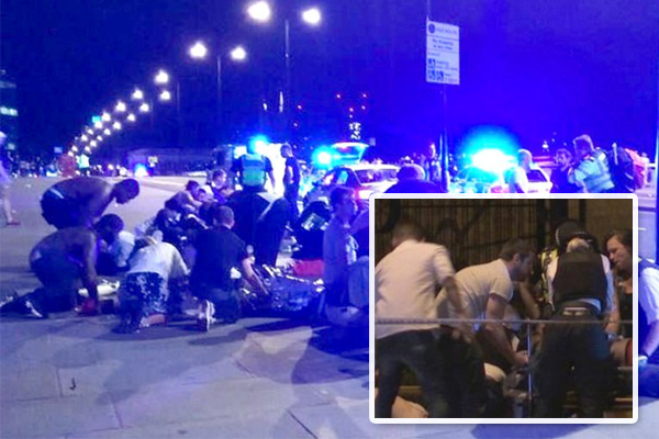 Unarmed London cop who fought attackers in critical condition