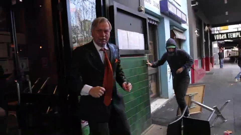 Article image for New video shows terrifying attack on Andrew Bolt