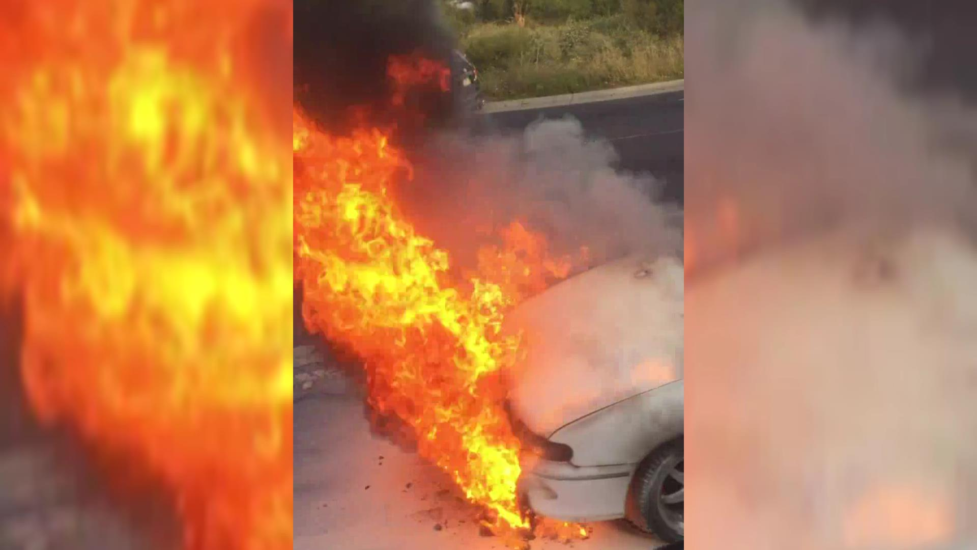 Article image for Huge car fire halts traffic on Western Ring Road
