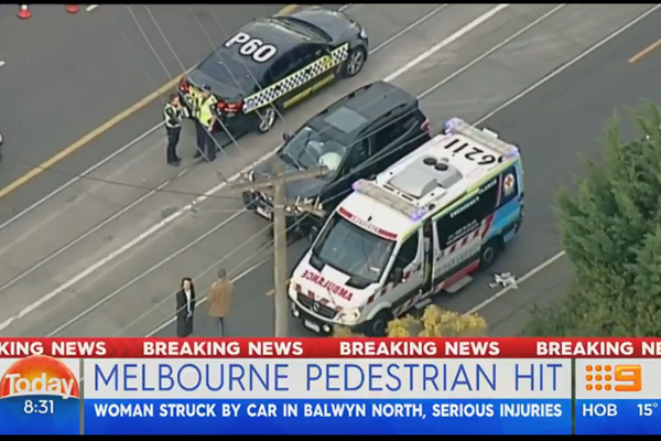 Article image for Pedestrian fighting for life after Balwyn North crash
