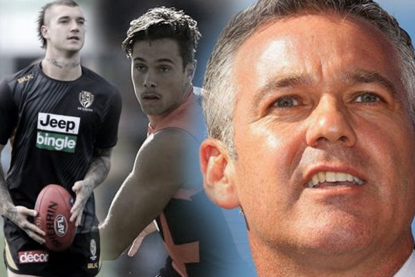 Article image for North Melbourne chairman confirms they're hunting Josh Kelly and Dustin Martin