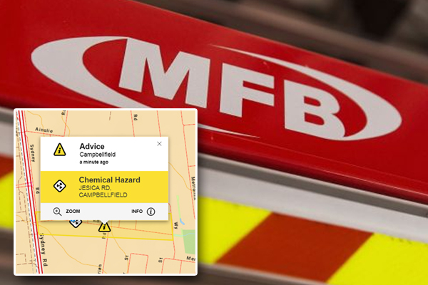 Article image for Chemical fire takes hold of Campbellfield factory