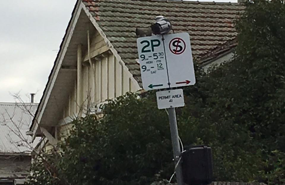 Article image for Cameras installed on parking signs at Moonee Valley to monitor the impact of level crossing removal