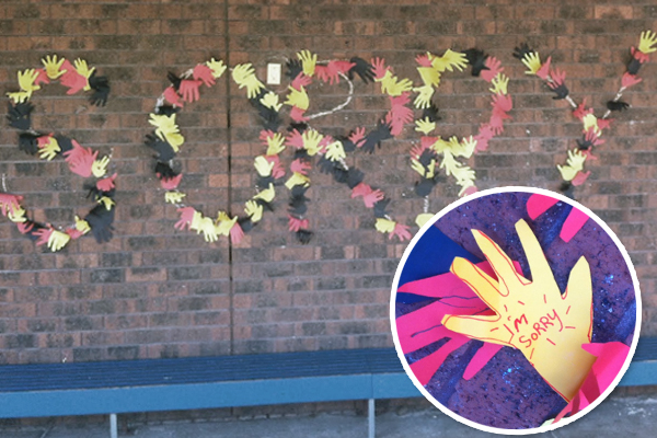 Article image for Coburg North Primary School's 'sorry' mural causes a stir